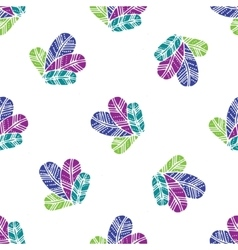 bunch of colorfull Feathers seamless pattern vector image