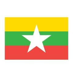 Burma Myanmar flag vector