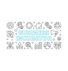 business incubator horizontal linear banner vector image