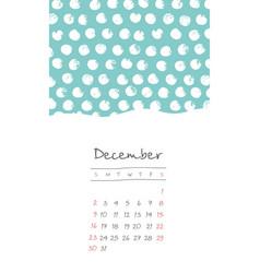 Calendar 2018 months december week starts sunday vector