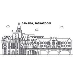 canada saskatoon line skyline vector image