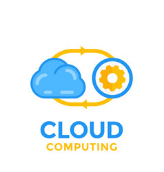 cloud technology icon vector image