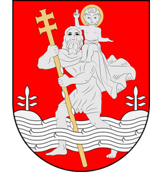 coat of arms of vilnius city in lithuania vector image