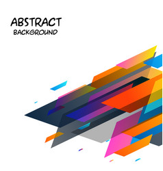 colorful abstract geometric white background vector image