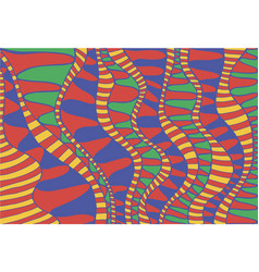 colorful fantasy ethnic psychedelic ornamental vector image