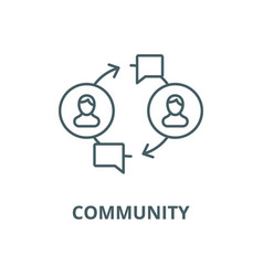 community line icon linear concept vector image