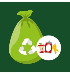 Concept recycling process trash icond design vector