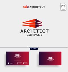 Construction architect logo design icon element vector