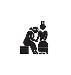 elderly care black concept icon elderly vector image