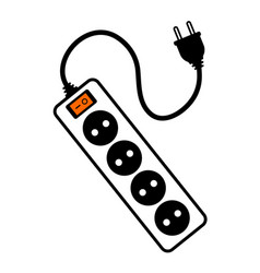 Electric extension cord vector