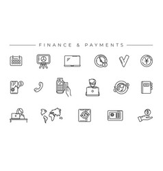 finance and payments concept line style vector image