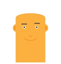 Flat bald joyful face man avatar character vector image