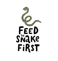 Funny lettering and cute snake vector