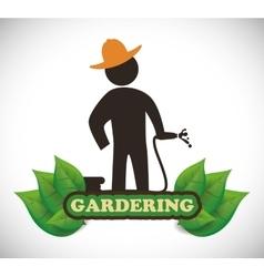 Gardening design vector