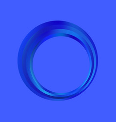 gradient ring is blue fashionable frame logo vector image