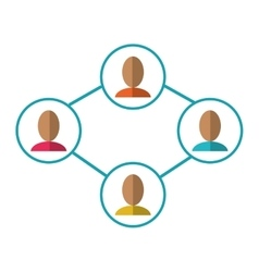 Group people connected unity communication vector