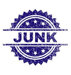 Grunge textured junk stamp seal vector