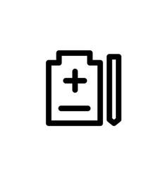 health report icon vector image