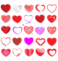 heart style set vector image
