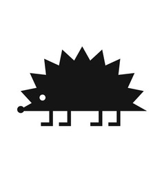 hedgehog black icon vector image