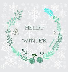 Hello winter background vector