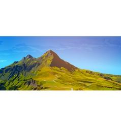 High mountains vector