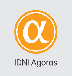Idni agoras cryptographic currency - coin vector