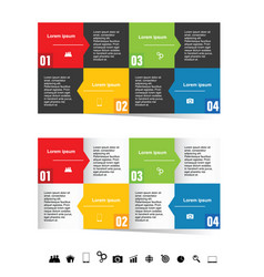 Infographic set in color with symbol vector