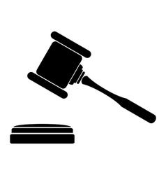 Judge gavel icon vector