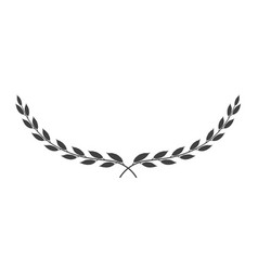 Laurel wreath icon isolated on white background vector