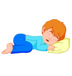 Little boy sleeping on a white background vector