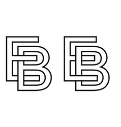 Logo be icon sign two interlaced letters e b vector