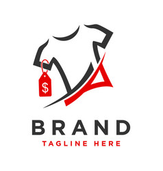 Logo on selling t-shirts vector