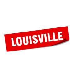 Louisville sticker louisville red square peeler vector