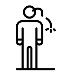 Man anxiety icon outline style vector