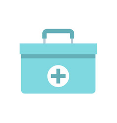 medicine chest icon flat style vector image