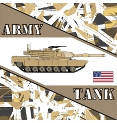 Military tank american army armur vehicles vector