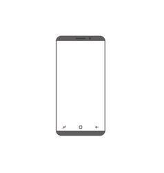 modern smartphone icon isolated on white web site vector image