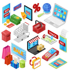 online shopping e-commerce technology with vector image
