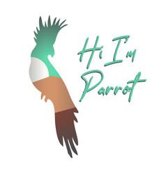 Parrot quote vector