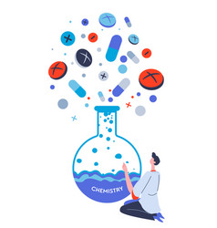 Pharmaceutical industry manufacturing pills vector