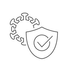 Protection against coronavirus line icon on white vector