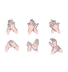 Rules for disinfection and hand washing vector