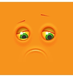 Sad emoticon emoji vector image