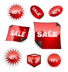 sales icon set vector image