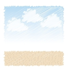 Sand desert background vector