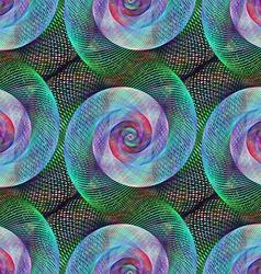Seamless digital art spiral fractal pattern vector