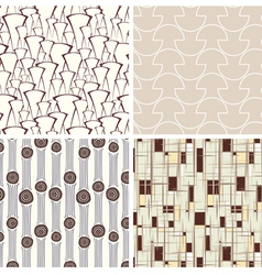 set of abstract textures vector image