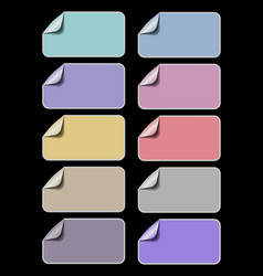 set of empty labels in different pastel colors vector image