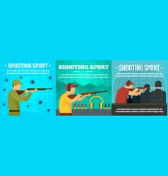 Shooting sport banner set flat style vector